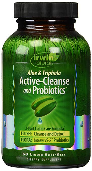 Irwin Naturals -Aloe & Triphala Active-Cleanse and Probiotics