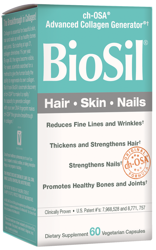 Natural Factors-BioSil - Hair, Skin, Nails, Natural Nourishment For Your Body's Beauty Proteins, 60 capsules