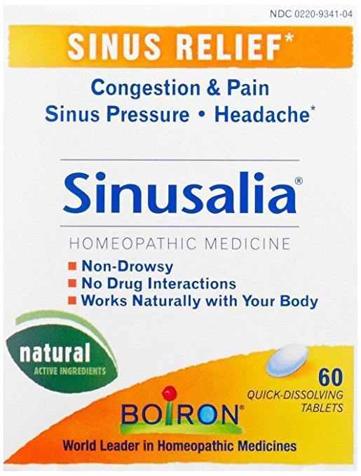 Boiron - Sinusalia, Homeopathic Medicine for Sinus Relief, 60 Tablets