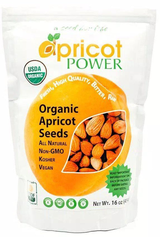 Apricot Power - Organic Bitter Raw Apricot Seeds - 16 oz. - Highland Health Foods