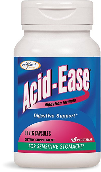 Enzymatic Therapy Acid-Ease Vegetarian Capsule, 90 Count