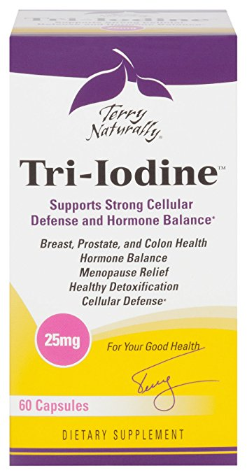 Europharma Terry Naturally Tri-Iodine 25 mg - 60 Caps