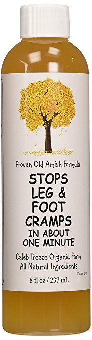 Caleb Treeze Organic Farms Stops Leg & Foot Cramps, 8 oz 12-Pack