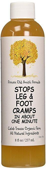 Caleb Treeze Organic Farms Stops Leg & Foot Cramps, 8 oz 2-Pack