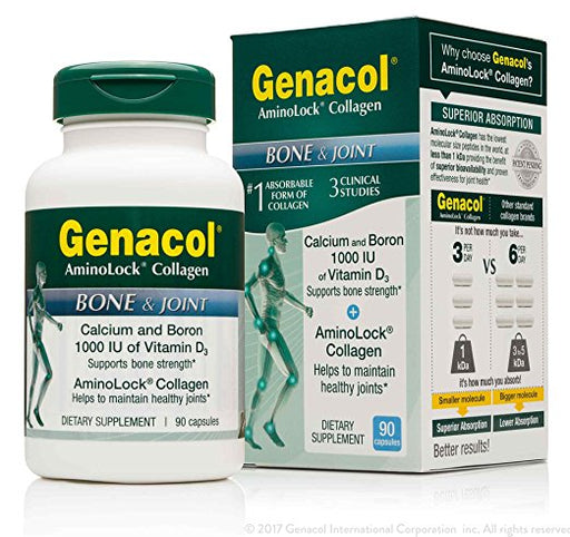 GENACOL Certified Non-GMO Bone and Joint Health Supplement (90 Capsules)