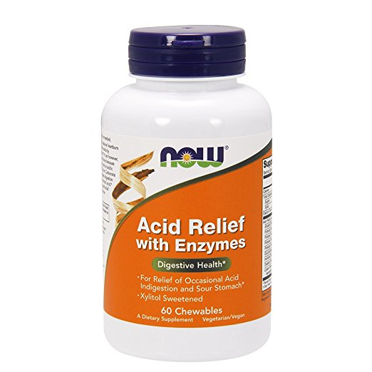 Now- Acid Relief with Enzymes 60 chewables