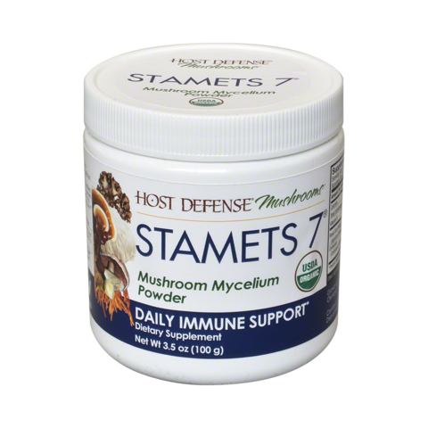 Host Defense- Stamets 7 Mushroom Powder - 100 Gram