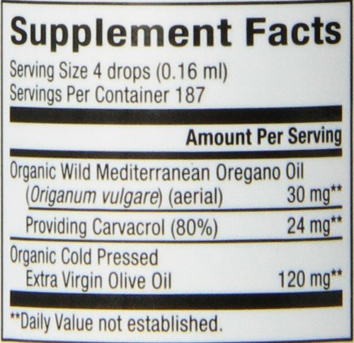 Natural Factors - Oil of Oregano, Certified Organic, 187 Servings (1 oz)