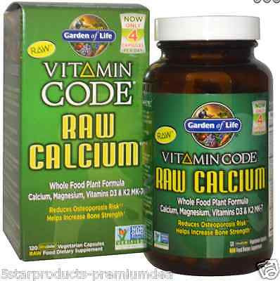 Garden Of Life Vitamin Code RAW Calcium, 120 Capsules