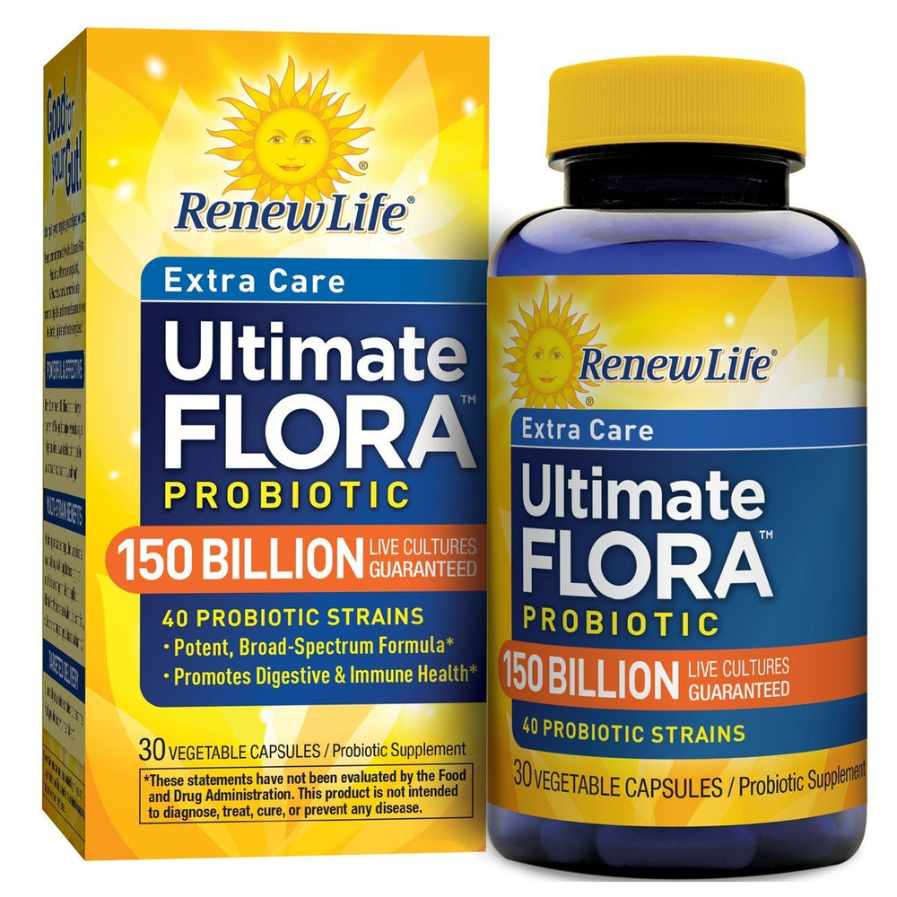 Renew Life - Ultimate Flora Extra Care Probiotic 150 Billion 30vcaps