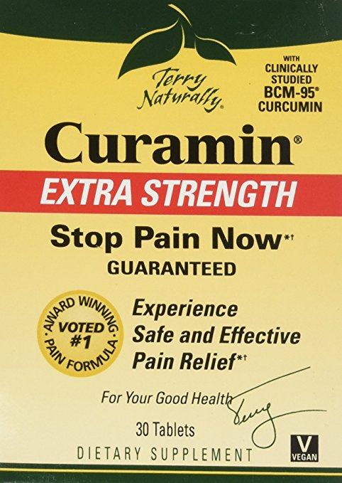 EuroPharma-Terry Naturally Curamin Extra Strength, Safe and Powerful Pain Relief with BCM95 Curcumin 30 Tabs