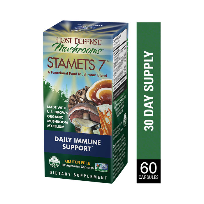 Host Defense-Stamets 7 Capsules, 60 Ct