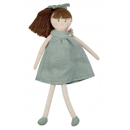 Trousselier TRSV101861 Doll with Celadon Green Linen dress 30C (5696707199128)
