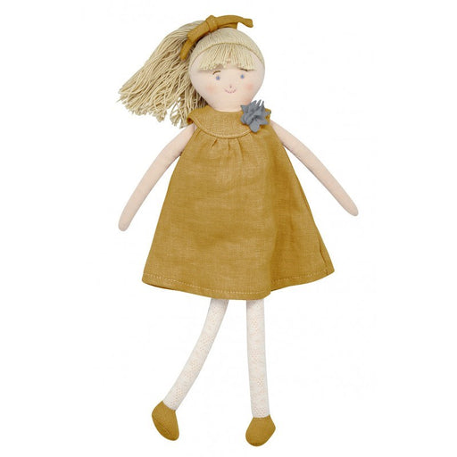 Trousselier TRSV101862 Doll with Grey Curry Linen dress 30Cm (5696707264664)