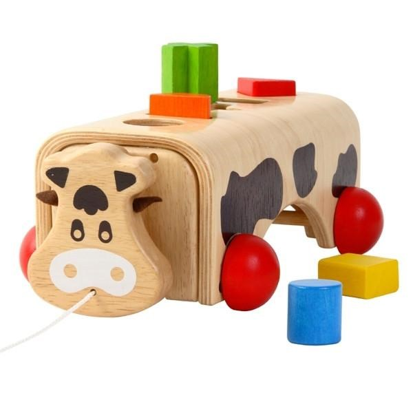 Geo Cow Wooden Toy