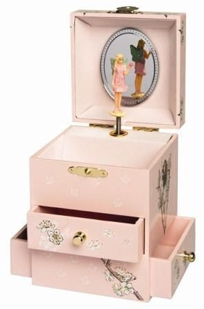 Musical Jewellery Box Cherry Flower Fairies