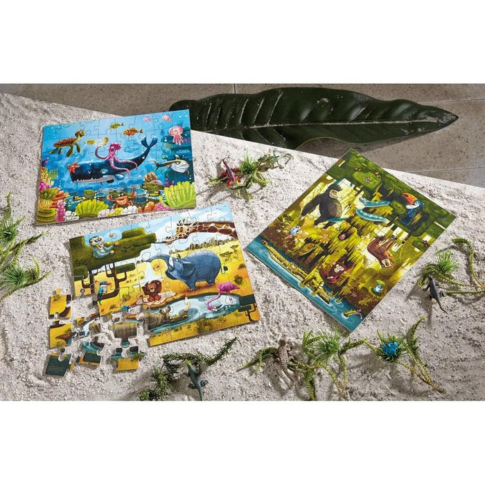 Haba 300492 Puzzles Animals of the World 3x48pc