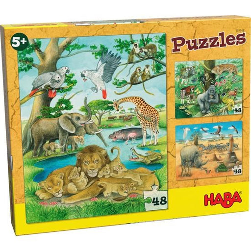 Haba 303348 Puzzles The wild animals of Africa (1826786672730)