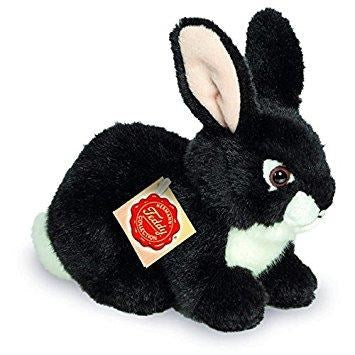Teddy Hermann Rabbit Sitting Soft Toy, Black, 18 cm