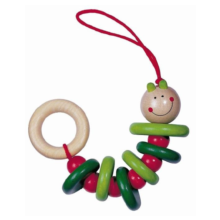 Wooden Baby Toy Rattling Caterpillar