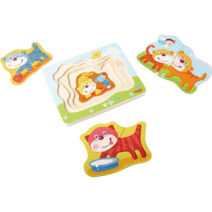 Haba 302532 Wooden puzzle Cuddly kitties (1340762390618)
