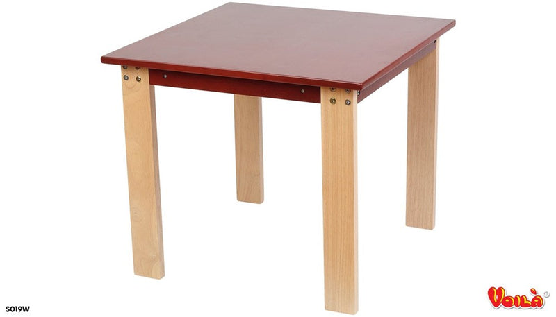 Wooden Table with Brown Top