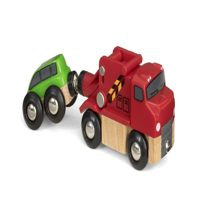 BRIO Vehicle 33528 - Tow Truck and Car (5505690435736)