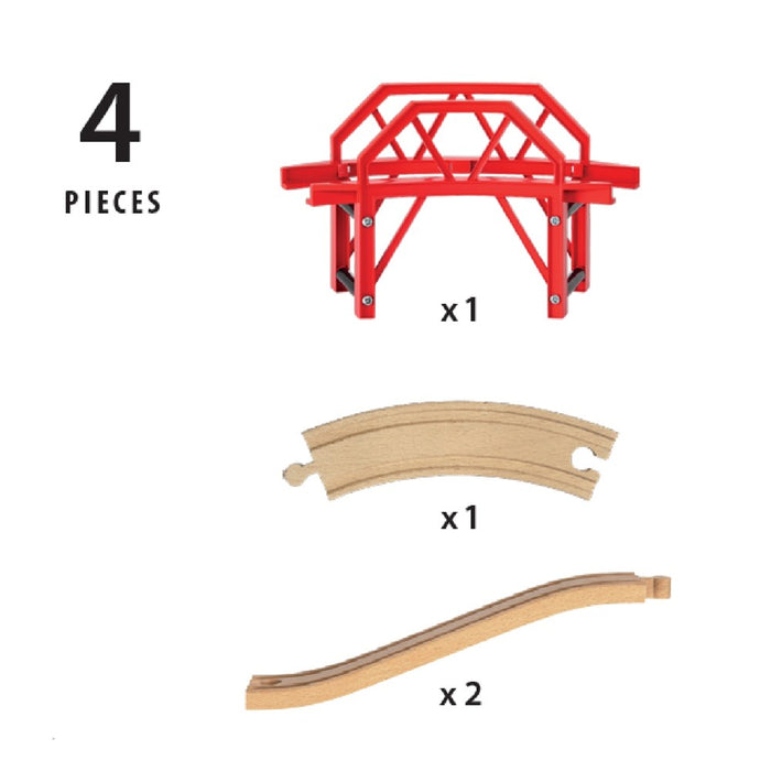 BRIO Bridge 33699 - Curved Bridge, 4 pieces