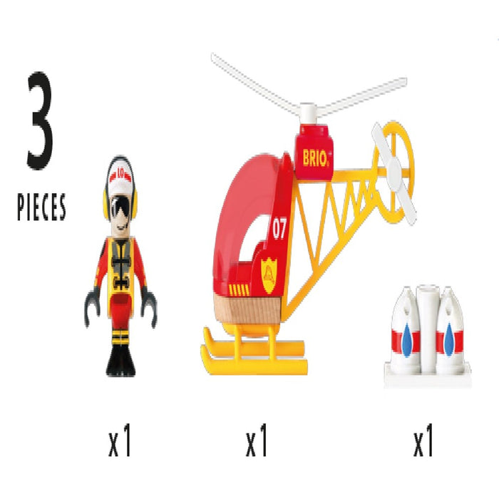BRIO Vehicle 33797 - Firefighter Helicopter, 3 pieces (5505690927256)