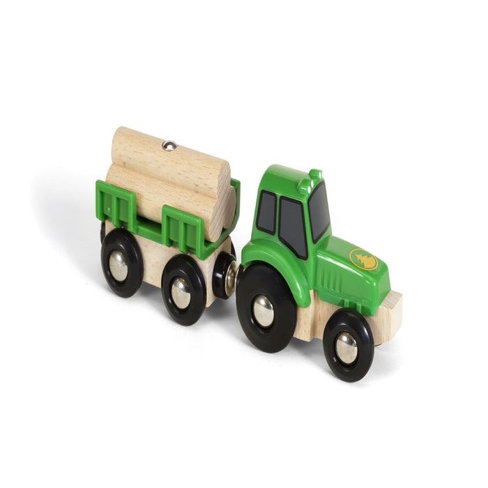 BRIO Vehicle 33799 - Farm Tractor with Load, 3 pieces