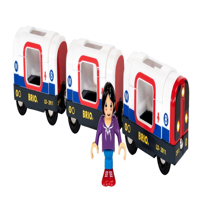 BRIO Train 33867 - Metro Train with Sound & Lights, 4 pieces (5505692762264)
