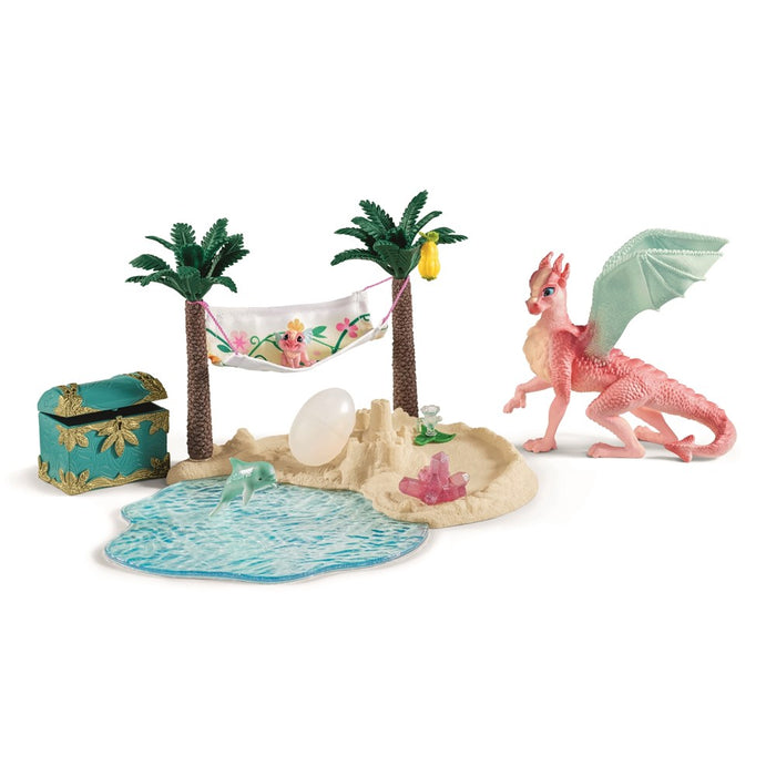 Schleich 42436 - Treasure island with dragon mama and dragon baby (5505723203736)