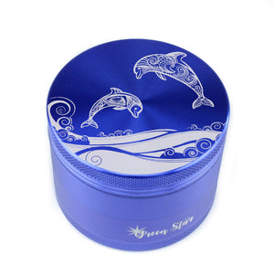 "Open image in slideshow, Dolphins Design on 2.5"" 4-Piece Herb Grinder"