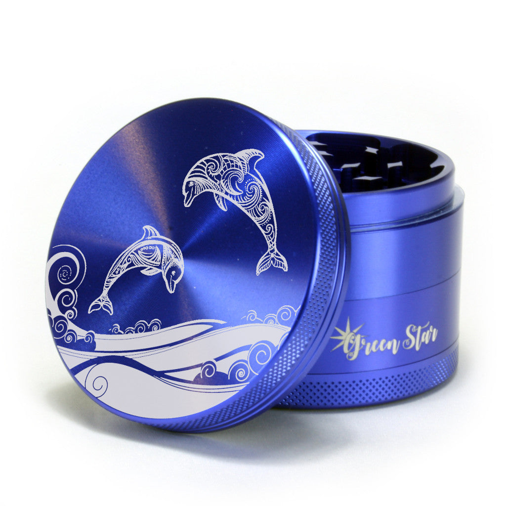 "Dolphins Design on 2.5"" 4-Piece Herb Grinder"