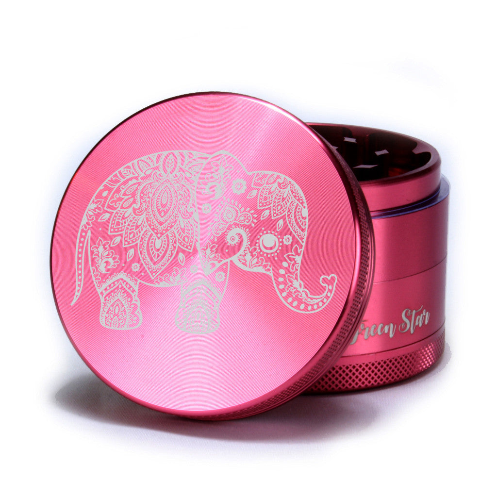 "Elephant Design on 2.5"" 4-Piece Herb Grinder"