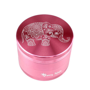 "Open image in slideshow, Elephant Design on 2.5"" 4-Piece Herb Grinder"