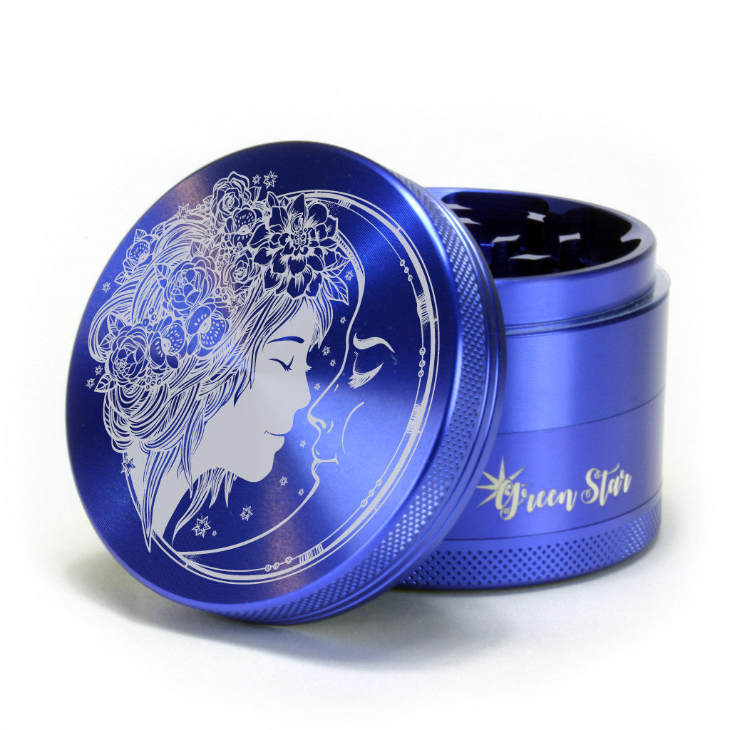 "Fairy Moon Design on 2.5"" 4-Piece Herb Grinder"