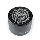 Hand Drawn Mandala Design Herb Grinder
