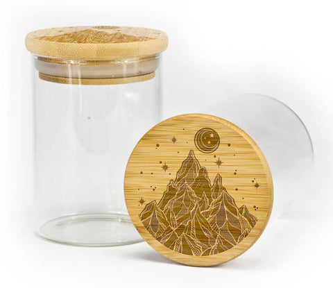Starry Night Mountain Stash Jar