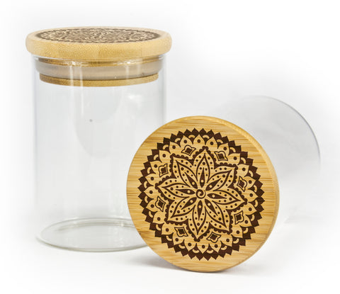 Intricate Mandala Stash Jar