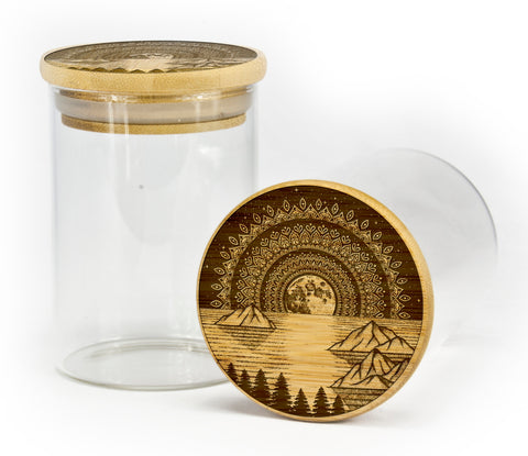 Mountain Mandala Stash Jar