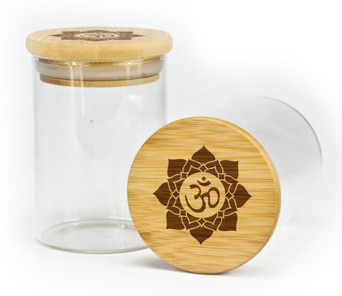 OM Open Mandala Design Stash Jar