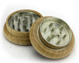 Cannabis Design Wooden Grinder