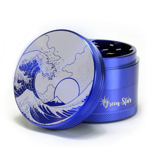 "Open image in slideshow, Tsunami Wave Design on 2.5"" 4-piece Grinder"