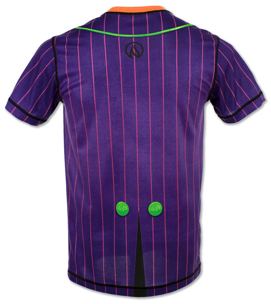 Men's Purple Pinstripe Tux Tech Shirt