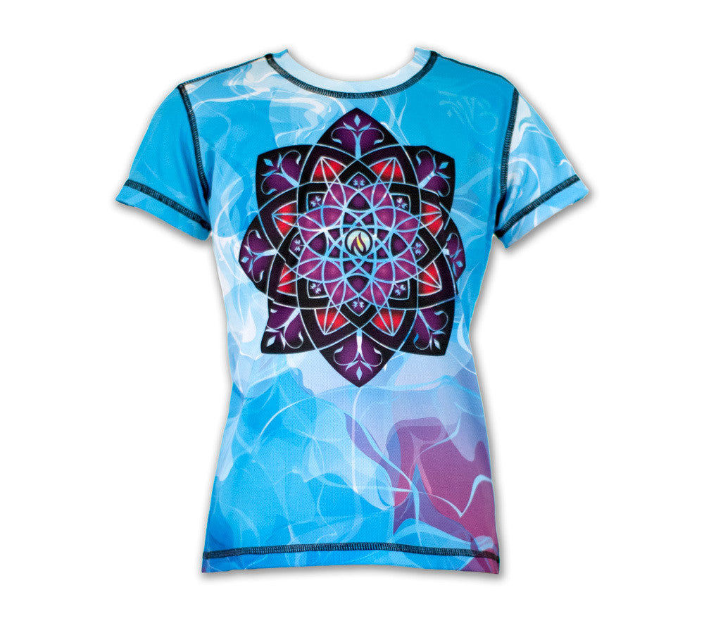 Girl's Healing Mandala Tech Shirt