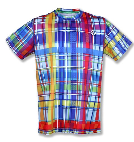 Men's RAINBOW PLAID  - テックTシャツ
