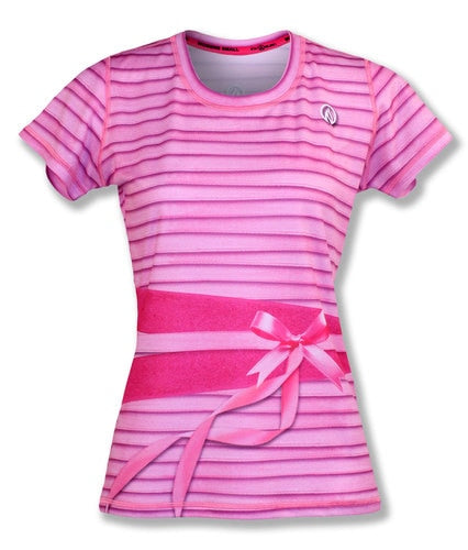 Women's  PINK RIBBON   - テックTシャツ