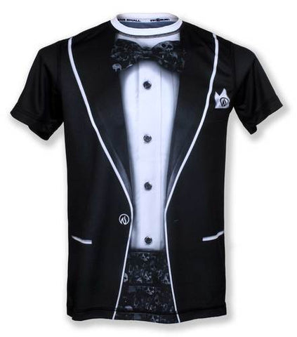Men's RUN OR DIE TUXEDO - テックシャツ