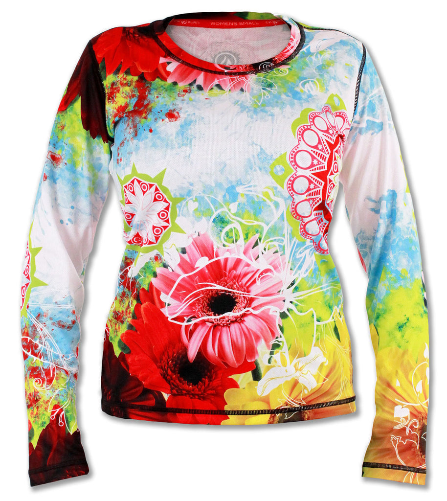Women's Wildflower Long Sleeve Tech Shirt